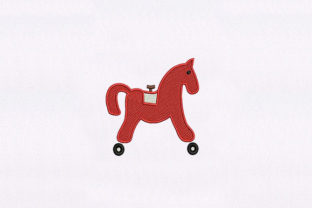 Horse with Wheels Toys & Games Embroidery Design By DigitEMB