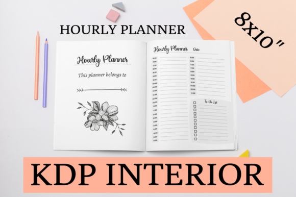 Print on Demand: Hourly Planner | KDP Interior Graphic KDP Interiors By KDP Mastermind