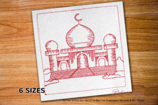 Islam Masjid Religion & Faith Embroidery Design By Redwork101