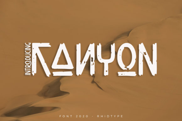 Print on Demand: Kanyon Display Font By RHIDTYPE