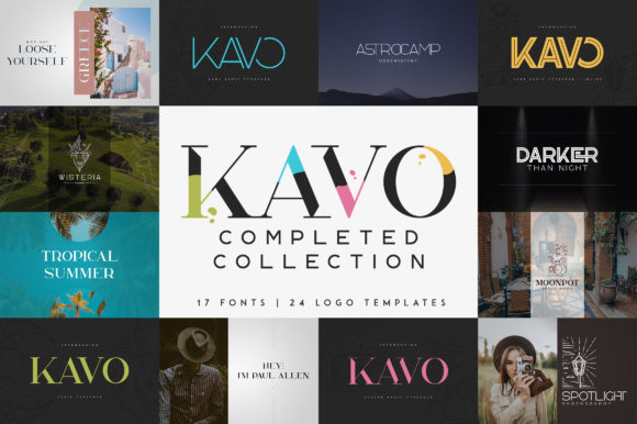Print on Demand: Kavo Serif Font By vladfedotovv