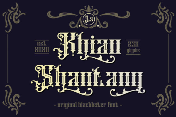 Print on Demand: Khian Shantang Blackletter Font By Gumacreative
