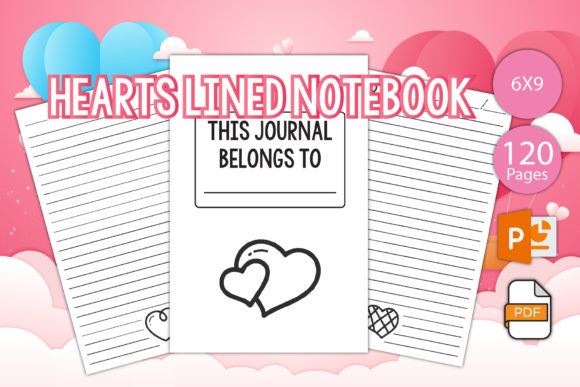 Print on Demand: Love Lined Journal for Printable Graphic KDP Interiors By IsaraDesign