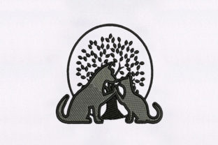 Lovely Cat & Dog Animals Embroidery Design By DigitEMB