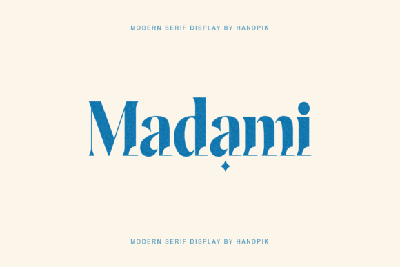 Print on Demand: Madami Serif Font By handpik