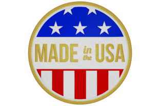 Made in USA Logo Around the world Embroidery Design By Digital Creations Art Studio