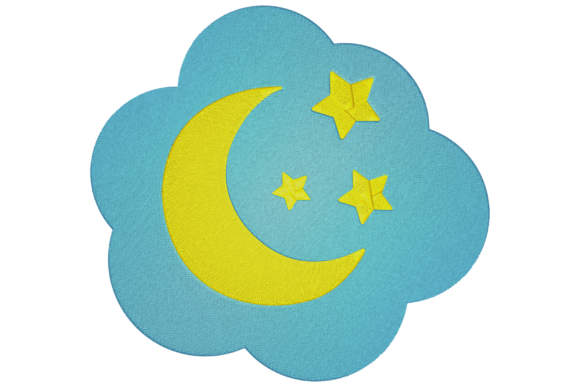 Moon and Stars Babies & Kids Embroidery Design By Digital Creations Art Studio