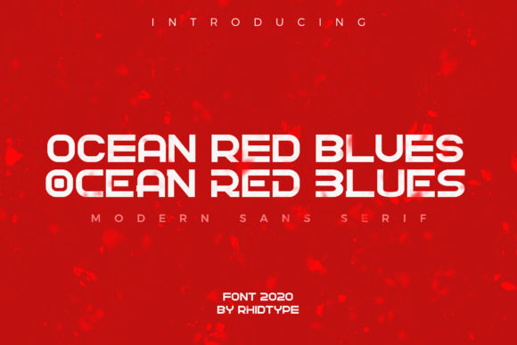 Print on Demand: Ocean Red Blues Sans Serif Font By RHIDTYPE