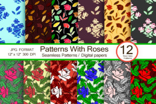Patterns with Roses, Seamless Pattern Graphic Patterns By FolkStyleStudio
