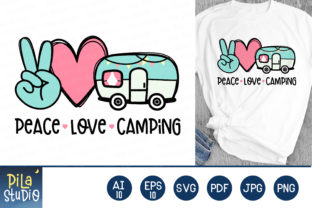 Peace Love Camping Svg Sublimation Graphic Illustrations By Pila Studio