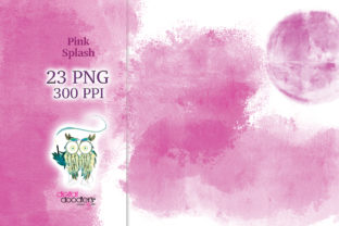 Print on Demand: Pink Watercolor Splash Graphics Graphic Textures By Digital Doodlers