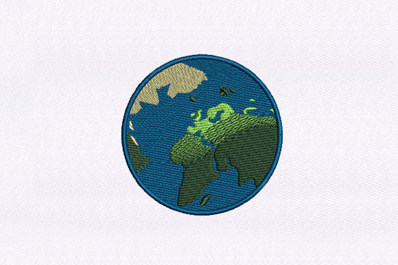 Planet Earth Design Around the world Embroidery Design By DigitEMB