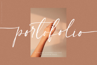 Print on Demand: Portofolio Script & Handwritten Font By Geranium.co