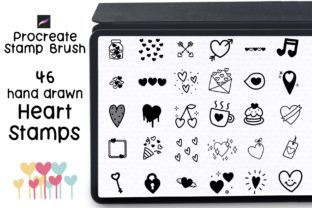 Procreate Stamp Heart Stamp Graphic Brushes By Jyllyco
