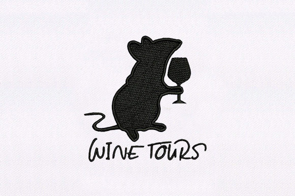 Rat with Wine Wine & Drinks Embroidery Design By DigitEMB