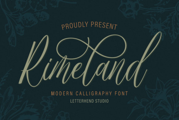Print on Demand: Rimeland Script & Handwritten Font By letterhend