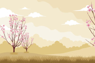 Print on Demand: Romantic Cherry Blossom in Valentine Day Graphic Illustrations By edywiyonopp