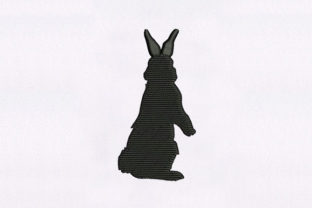 Shadow Style Rabbit Design Woodland Animals Embroidery Design By DigitEMB