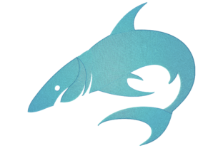 Print on Demand: Shark Animals Embroidery Design By embroidery dp