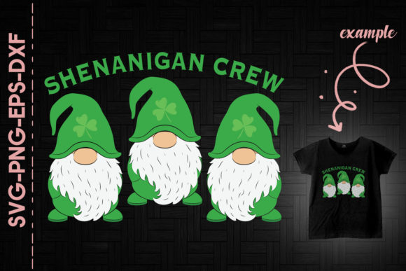 Print on Demand: Shenanigan Crew St. Patrick's Day Gnome Graphic Crafts By Utenbaw