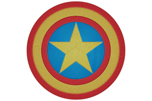 Shield with Star Hobbies & Sports Embroidery Design By Digital Creations Art Studio