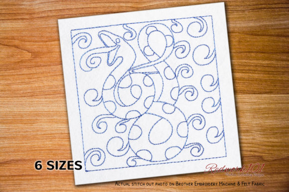 Snake Reptiles Embroidery Design By Redwork101