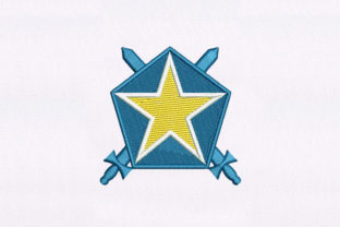Star Logo Military Embroidery Design By DigitEMB