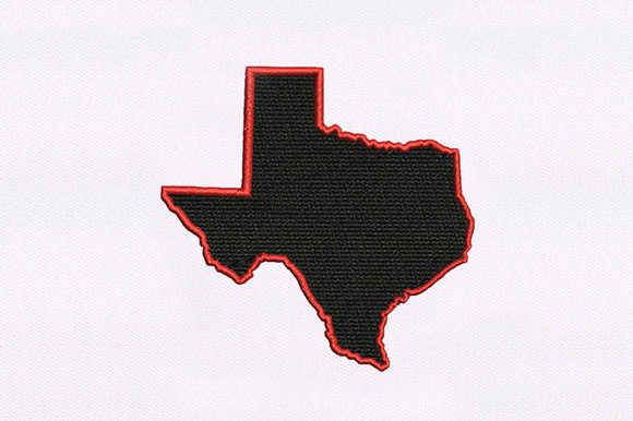 Texas Map Design Around the world Embroidery Design By DigitEMB