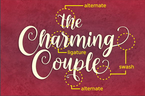 Print on Demand: The Charming Couple Manuscrita Fuente Por deedeetype