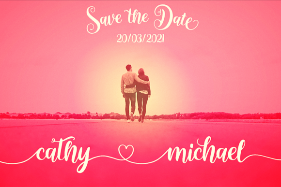 The Charming Couple Font Font