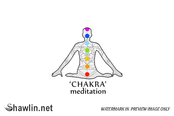 The Seven Chakras with Their Names Graphic Illustrations By shawlin