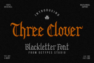 Print on Demand: Three Clover Blackletter Font By getypes