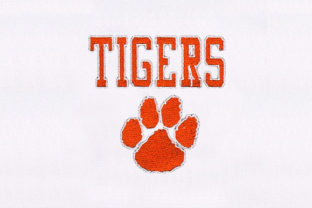 Tiger Paw Design Animal Quotes Embroidery Design By DigitEMB