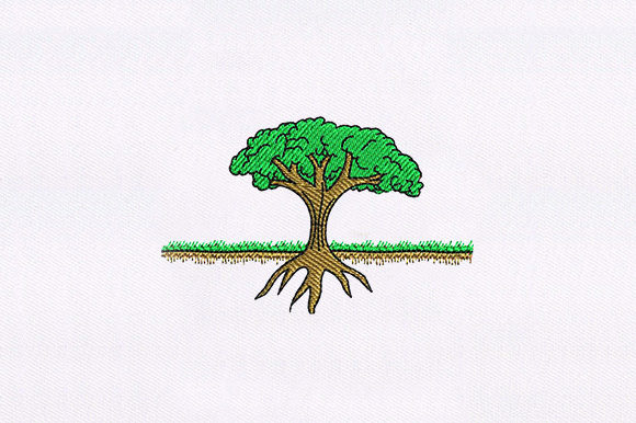 Tree with Root Forest & Trees Embroidery Design By DigitEMB