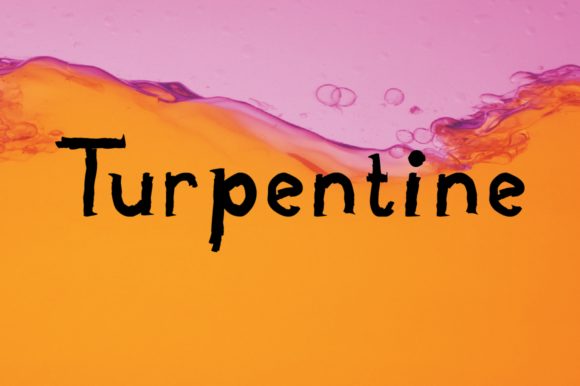 Print on Demand: Turpentine Display Font By Megami Studios