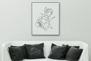 Print on Demand: Two Rose Buds Wedding Flowers Embroidery Design By EmbArt 4