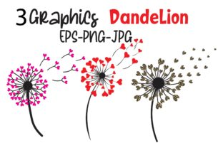 Valentine Dandelion Flower Graphic Graphic Illustrations By MidasStudio