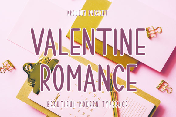 Print on Demand: Valentine Romance Sans Serif Font By Inermedia STUDIO