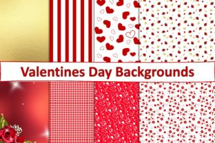 Print on Demand: Valentines Day Backgrounds JPEG PDF Graphic Backgrounds By The Paper Princess