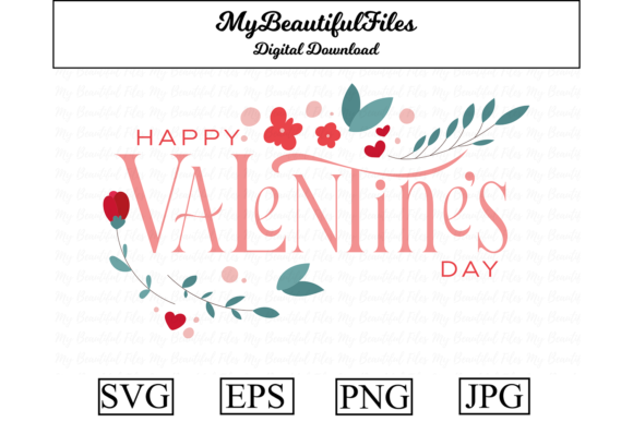 Print on Demand: Valentines Day - Happy Valentines Day Graphic Illustrations By MyBeautifulFiles