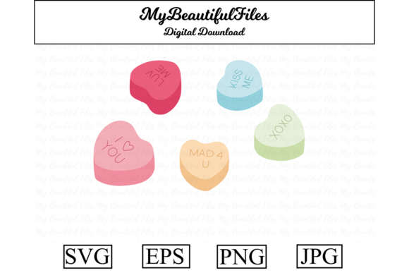 Print on Demand: Valentines Day - Candy Graphic Illustrations By MyBeautifulFiles