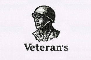 Veteran Soldier Design Military Embroidery Design By DigitEMB