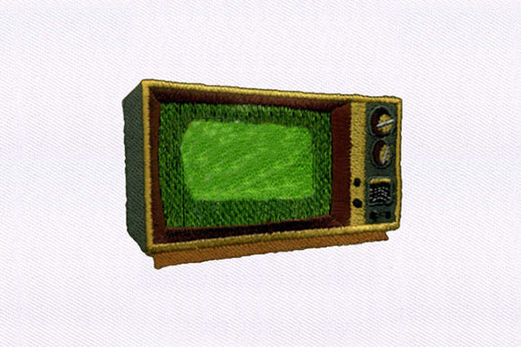 Vintage Television Design House & Home Embroidery Design By DigitEMB
