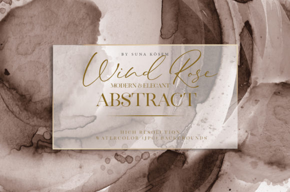 Wind Rose Abstract Watercolor Background Graphic Backgrounds By suna__kosem