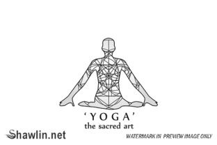 Yoga- the Sacred Art Graphic Illustrations By shawlin