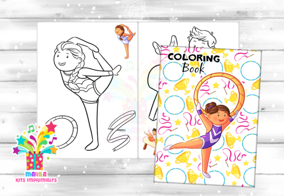 Coloring Book Gymnastic Kids - Pdf Graphic Coloring Pages & Books Kids By marilakits