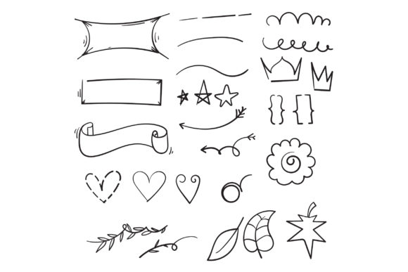 Print on Demand: Doodle Vintage Decorative Graphic Icons By GwensGraphicstudio