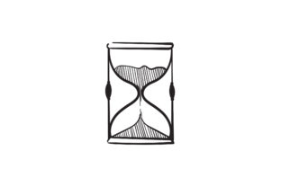 Print on Demand: Doodle Hourglass Graphic Icons By GwensGraphicstudio