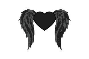 Gothic Angel Wings Love Craft Cut File By Creative Fabrica Crafts