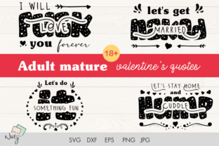 Print on Demand: Adult Mature Funny Valentines Quotes. Graphic KDP Interiors By artsbynaty